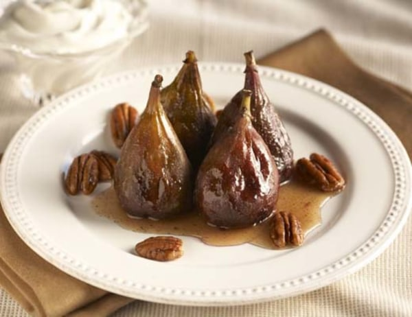 Image of Figs and Pecans with Honey