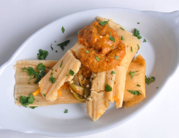Image of Fire Roasted Chiles and Cheddar Tamales