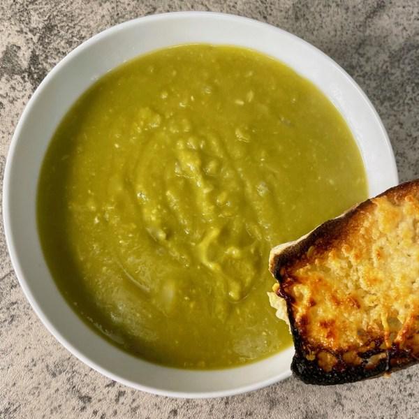 Image ofvegan split pea soup