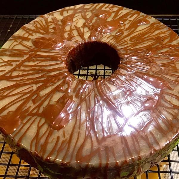 Image of Pressure-Cook Cake: Chocolate, Caramel & Walnut