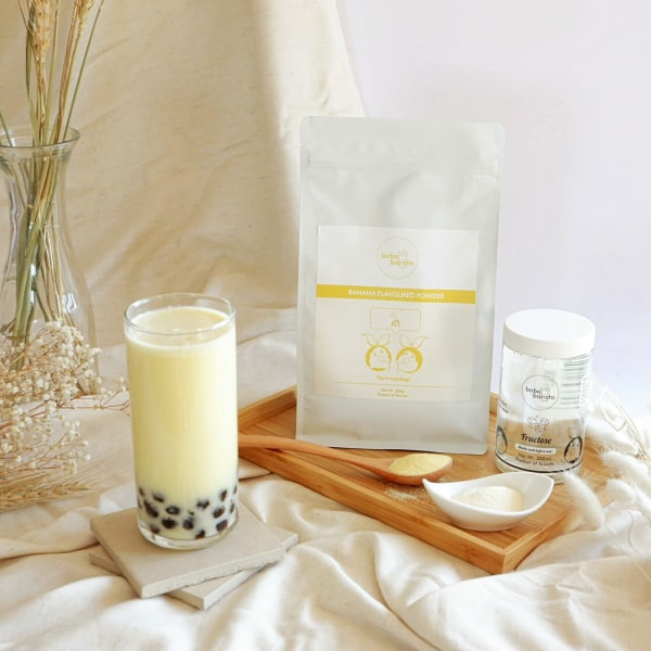 Banana Flavoured Milk Tea by Boba Barista
