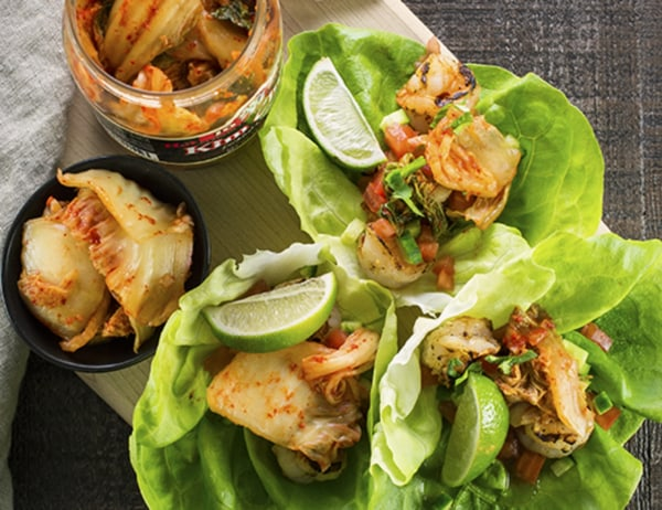 Image of Shrimp and Kim Chee Lettuce Wraps