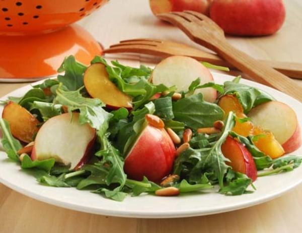 Image ofSaturn Peach, Arugula and Plumcot Salad