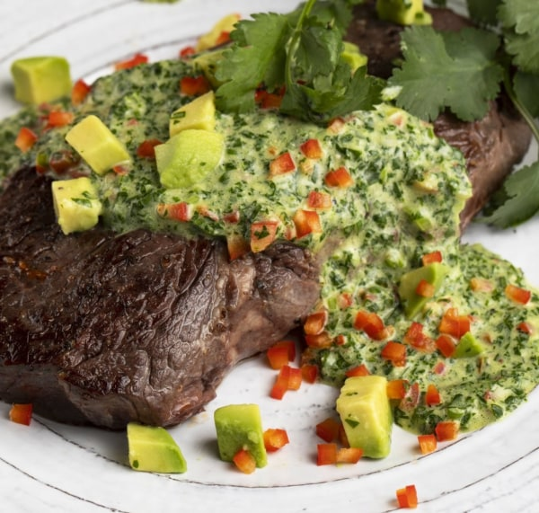 Image of Beef Sirloin With Cilantro Sauce