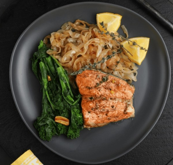 Image of Salmon With Pasta And Broccoli Rabe