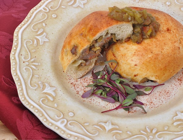 Image ofSausage, Mushroom and Hatch Chile Kolaches