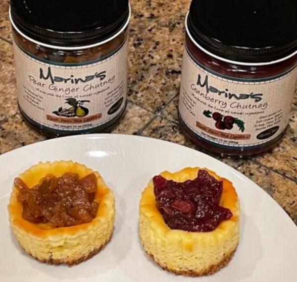 Image ofIndividual Cheesecakes with Marina's Chutneys