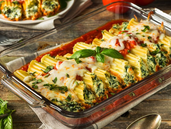 Image of Stuffed Cheese & Spinach Manicotti