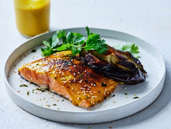 Pretty Miso Glazed Salmon