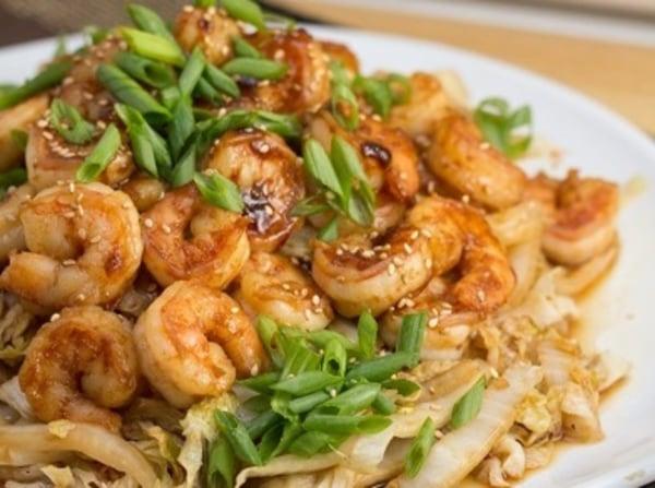 Image of Keto Thai Spicy shrimp Cabbage & Broccoli