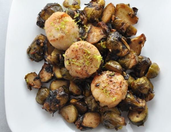 Image ofScallop & Roasted Brussels Sprouts
