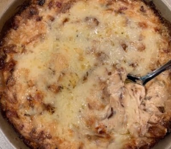 Image ofHot Caramelized Onion Dip with Bacon and Gruyere