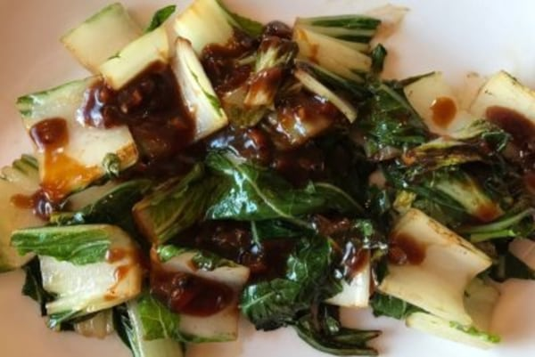 Image of Bok Choy with Warm Miso Ginger Dressing