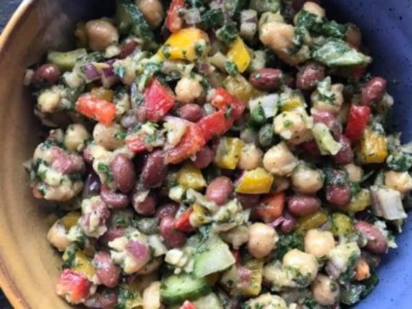 Image ofMediterranean Three Bean Salad