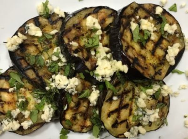 Image ofGrilled Eggplant with Blue Cheese & Herbs