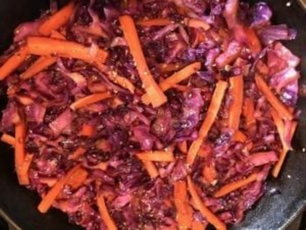 Image of Sesame Carrot & Red Cabbage Stir Fry