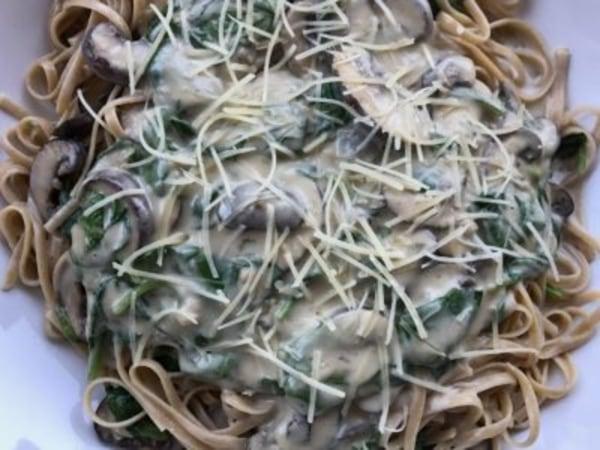 Image ofMushroom Florentine Pasta Recipe