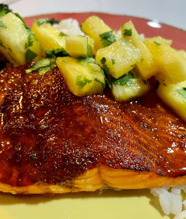 Image of Southwestern Honey Chipotle Salmon with Pineapple Salsa