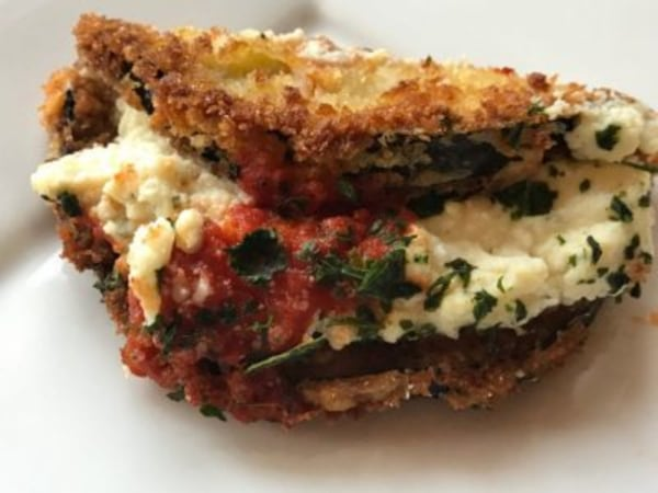 Image ofStuffed Eggplant with Ricotta