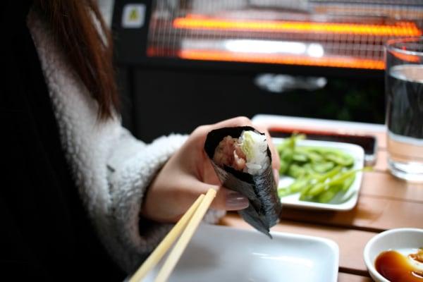 Image ofNori Seaweed Wraps with avocado salad and Peanut Tofu