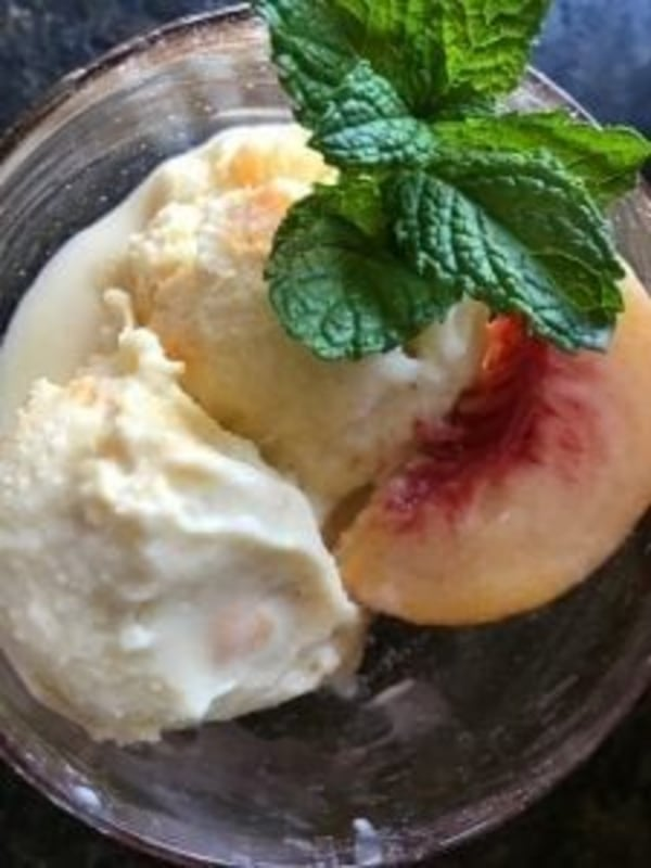 Image of Bourbon-Peach Ice Cream