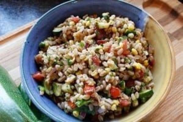 Image of Charred Corn Farro Salad