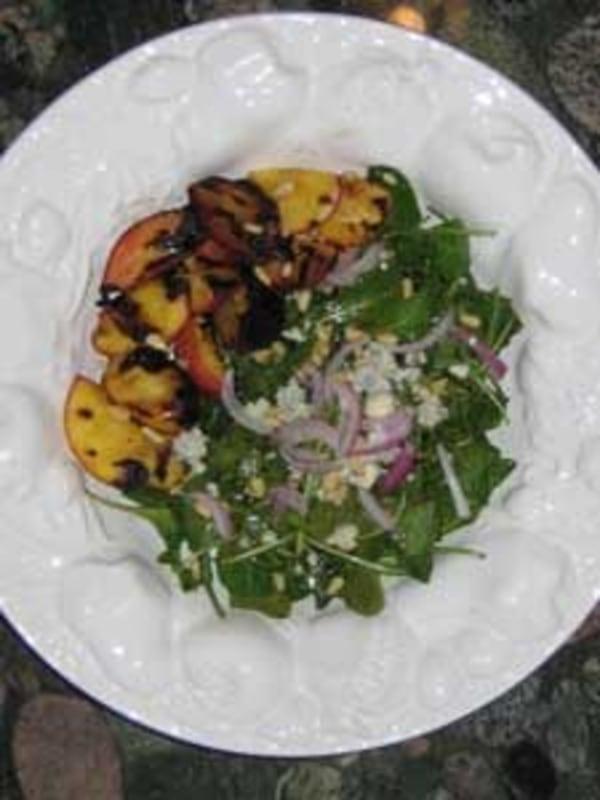 Image ofGrilled Peach & Arugula Salad Recipe
