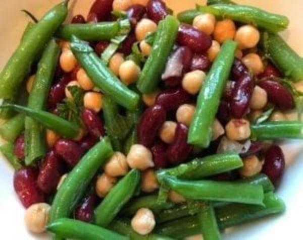 Image ofThree-Bean Salad with Fresh Mint
