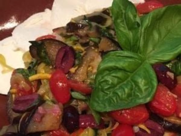 Image of Zucchini Noodles with Eggplant & Tomatoes