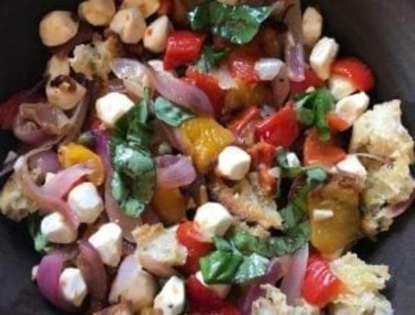 Image ofRoasted Pepper & Torn Mozzarella Panzanella