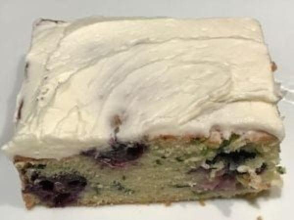 Image ofBlueberry Zucchini Snack Cake with Lemon Buttercream