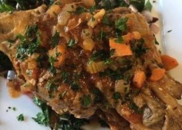 Image of Pork Shanks Braised in Herb-Tomato Sauce