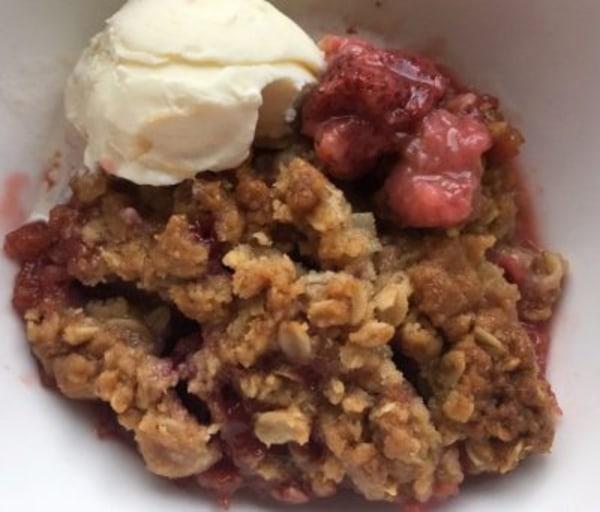 Image ofRhubarb, Strawberry & Blueberry Crisp