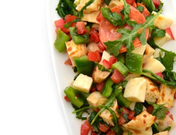 Image of Tossed Vegetarian Pepperoni Pizza Salad
