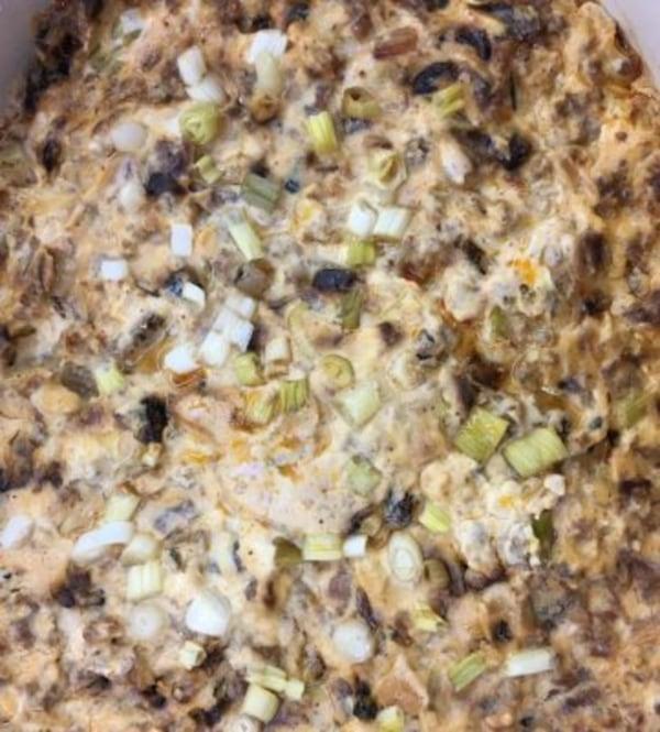 Image ofCheesy Chorizo Caramelized Onion Dip