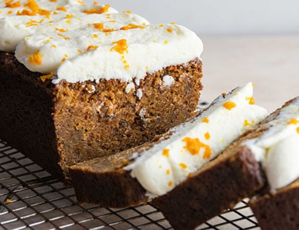 Image of Carrot Pumpkin Orange Loaf With Cream Cheese Icing