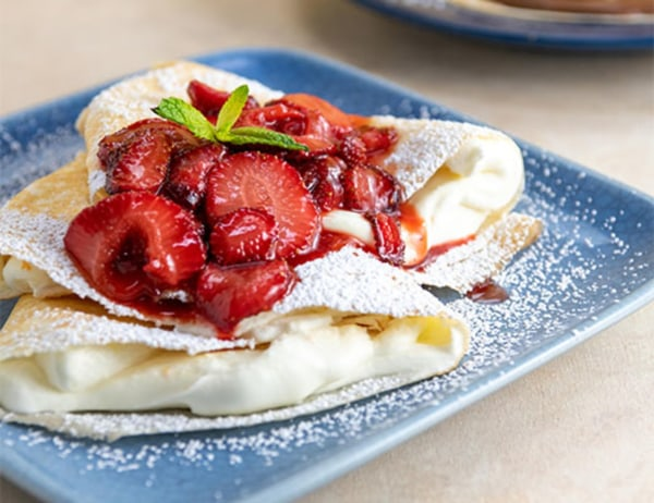 Image of Strawberry Cream-Cheese Crepes