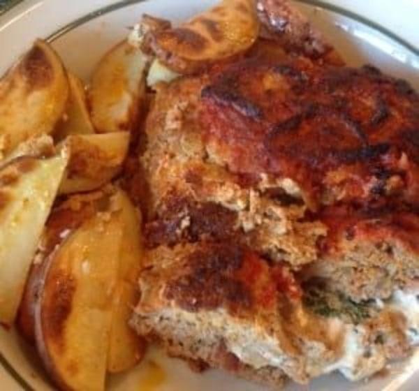 Image ofStuffed Meatloaf a la Marina with potatoes, Mozzarella & Prosciutto