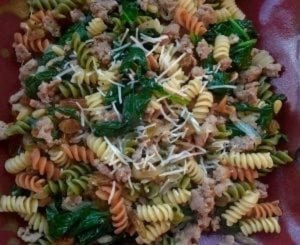Image ofRotini with Sweet Italian Sausage, Spinach & Pine Nuts