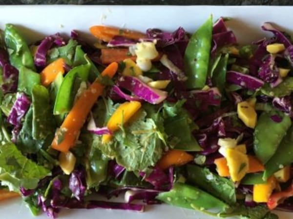 Image ofChopped Thai Salad with Sesame Garlic Dressing
