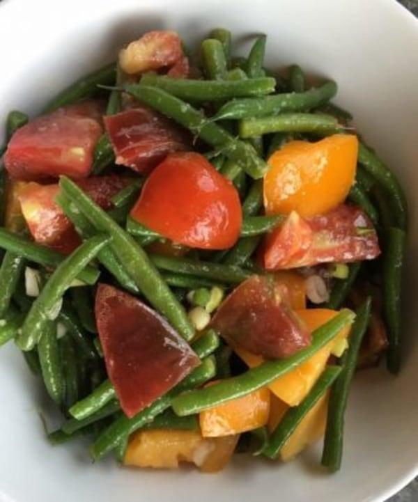 Image of Green Bean & Tomato Salad with Ginger-Wasabi Vinaigrette