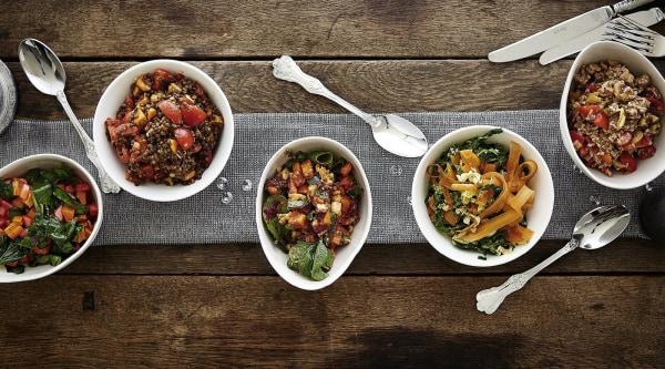 Rezepte für Salat-Variationen zum Fondue oder Raclette