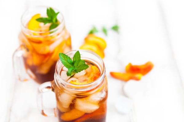 Image ofMake A Delicious Mint Peach Iced Black Tea