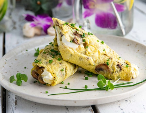 Image ofFresh Herb and Goat Cheese Omelet
