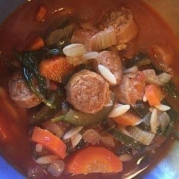 Image of Sweet Italian Sausage & Vegetable Minestrone