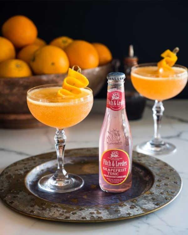 Gin, Orange, Simple Syrup and Grapefruit Tonic