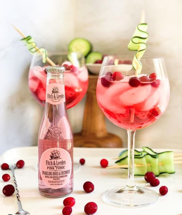 Vodka Cranberry Cucumber Spritz
