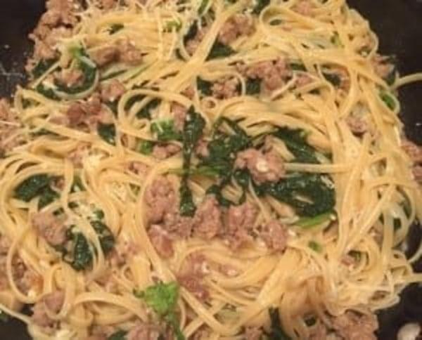 Image of Linguine with Broccoli Rabe & Sweet Italian Sausage