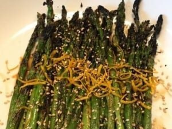 Image of Grilled Asparagus with Asian Marinade