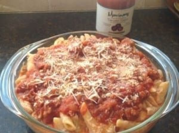 Image of Three Cheese Baked Ziti with Sausage